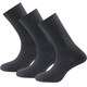 Devold Daily Light - Calcetines - 3-Pack negro